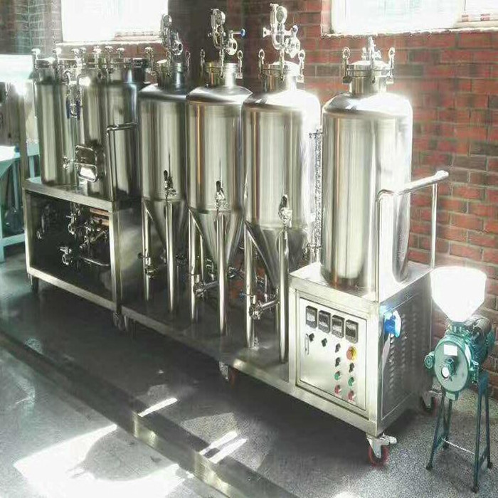 Two vessel brewhouse 100 liters brewery tank