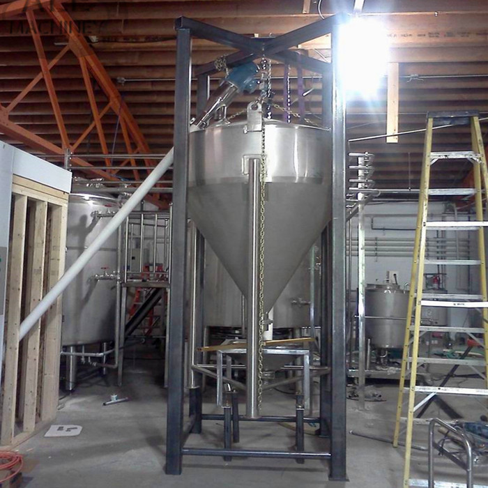 Commercial beer brewery distillery malt powder warehouse feed bin grist bin