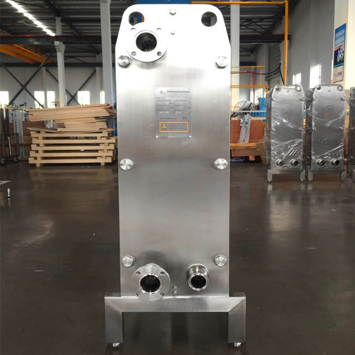 Micro brewery auxiliary wort chiller plate heat exchanger stainless steel 304/316