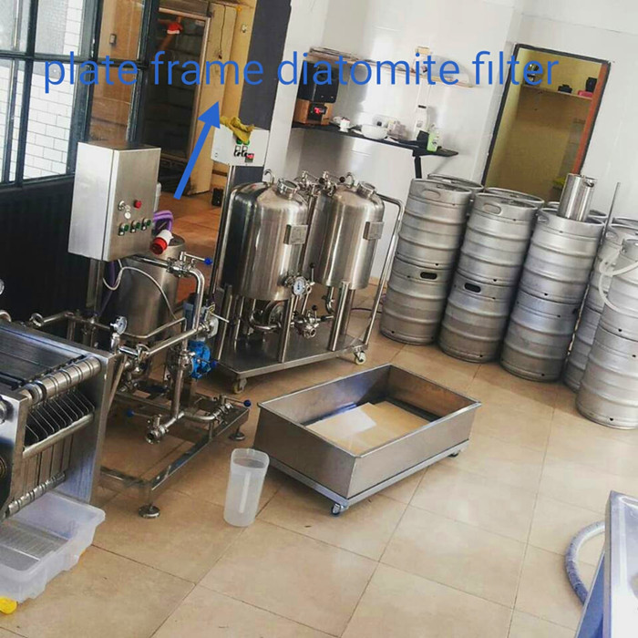 Plate frame diatomite filter for craft brewery beer filtration